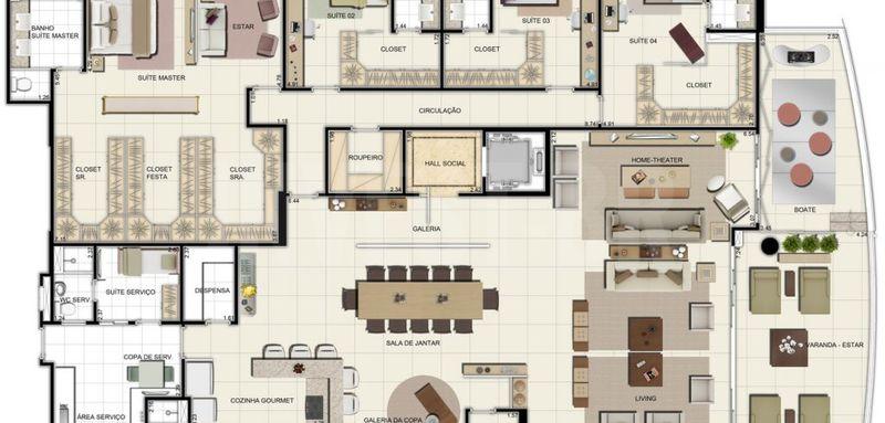 Apartamento a venda em Adrianópolis, 5 quartos - AM25001 - 13