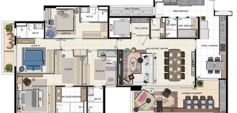 Apartamento a venda, Adrianópolis, Manaus, AM. - AM20001 - 15