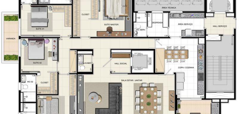 Apartamento a venda, Adrianópolis, Manaus, AM. - AM20001 - 16
