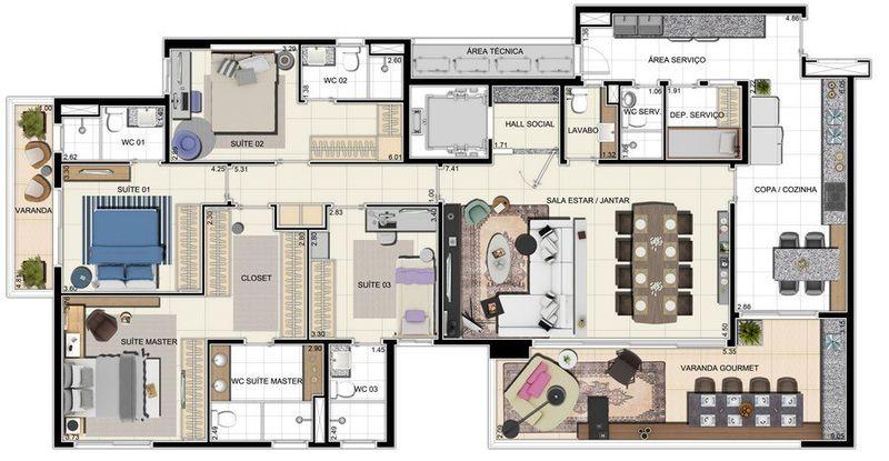 Apartamento a venda, Adrianópolis, Manaus, AM. - AM20001 - 19