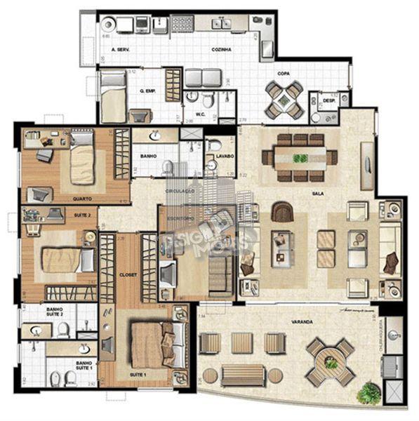 Apartamento À Venda no Condomínio Península Atmosfera - Rio de Janeiro - RJ - Barra da Tijuca - VRA4008 - 21
