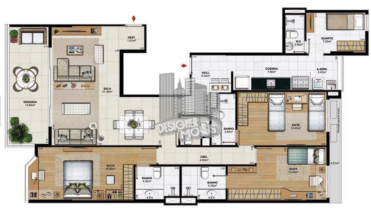 Apartamento À Venda no Condomínio ESSENCE CONDOMINIUM - Rio de Janeiro - RJ - Jacarepaguá - VRA4021 - 18