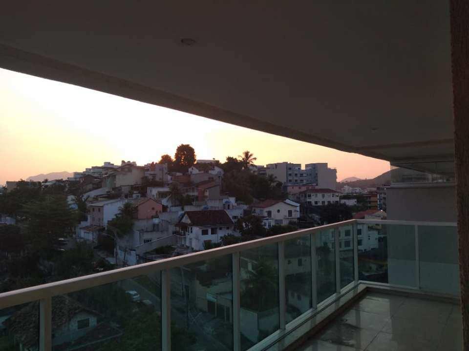 Vista da varanda - Cobertura 2 quartos para venda e aluguel Rio de Janeiro,RJ - R$ 792.000 - JPA2 - 21