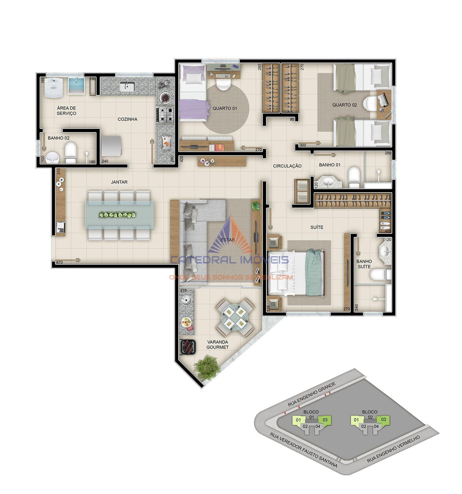 Apartamento À Venda - Engenho Nogueira - Belo Horizonte - MG - 007 - 12