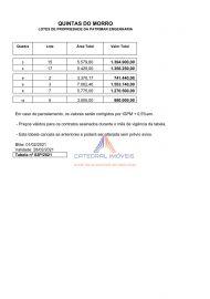 TABELA FEVEREIRO 2021 - Terreno Fração à venda 10ª Rua QUINTAS DO MORRO,Alphaville, Nova Lima - 12 - 19