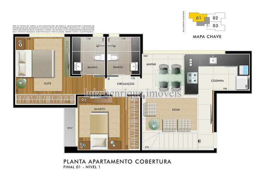 Cobertura Serra,Belo Horizonte,MG À Venda,2 Quartos,115m² - C2-43 - 5