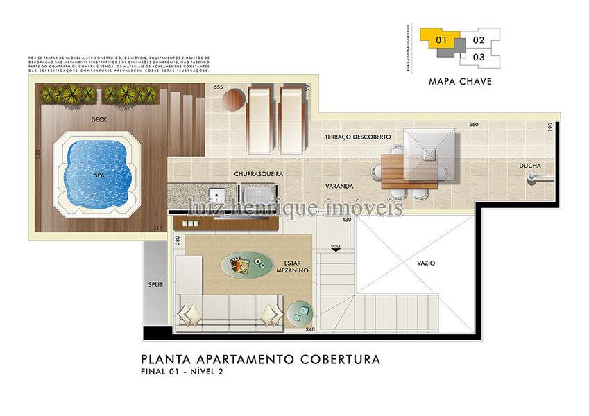 Cobertura Serra,Belo Horizonte,MG À Venda,2 Quartos,115m² - C2-43 - 6